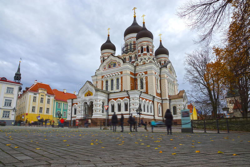 Alexander Nevsky Cathedral en Tallinn, Estonia fotos de archivo