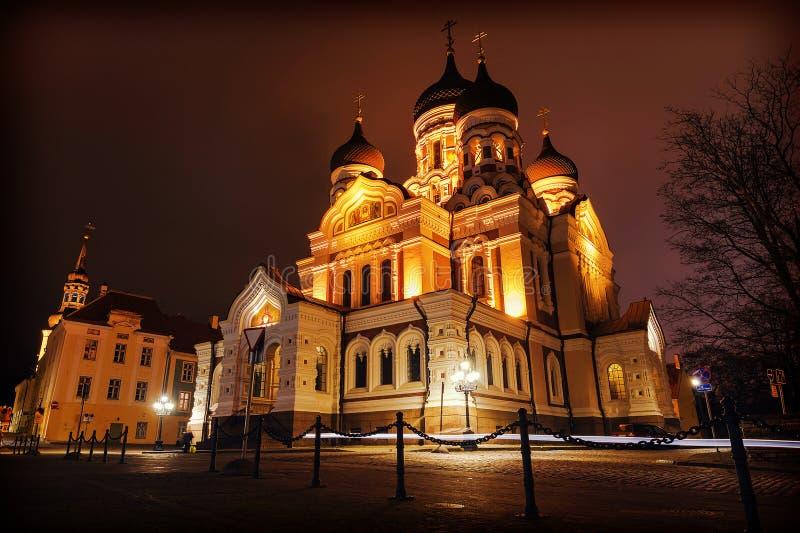Alexander Nevsky Cathedral en Tallinn, Estonia imagenes de archivo
