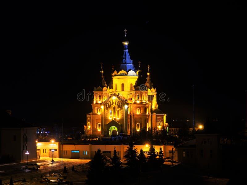 Alexander Nevsky Cathedral i Nizhny Novgorod royaltyfri bild