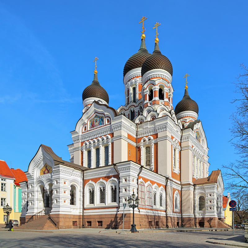 Alexander Nevsky Cathedral i Tallinn, Estland arkivfoto