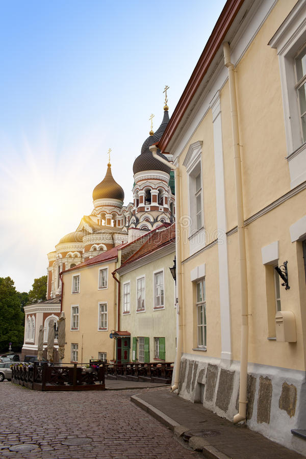 Alexander Nevsky Cathedral. Old city, Tallinn, Estonia stock image
