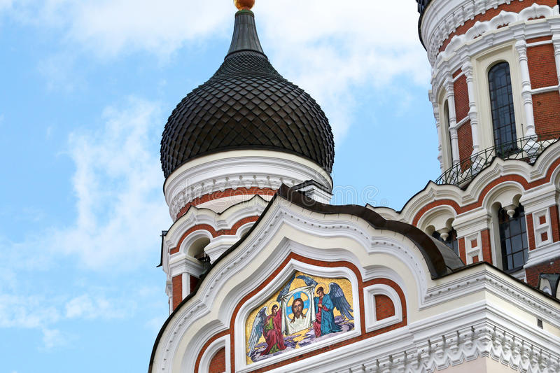 Alexander Nevsky Cathedral. Old city, Tallinn, Estonia. stock photography