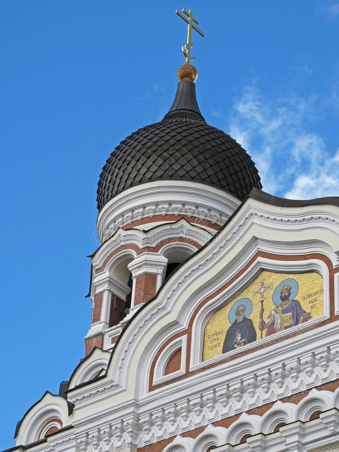 Alexander Nevsky Cathedral, old town of Tallinn, Estonia stock images