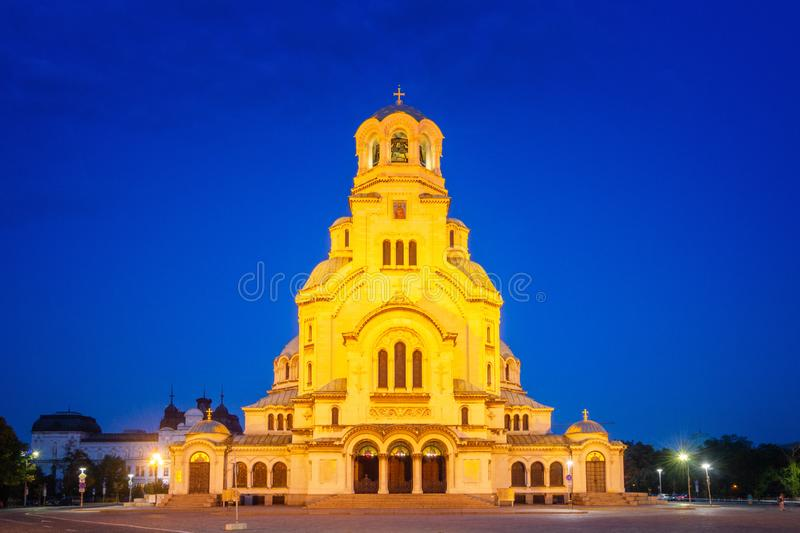 Alexander Nevsky cathedral in Sofia. Bulgaria stock photos