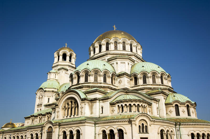 Alexander Nevsky Cathedral in Sofia, Bulgaria.  stock photo