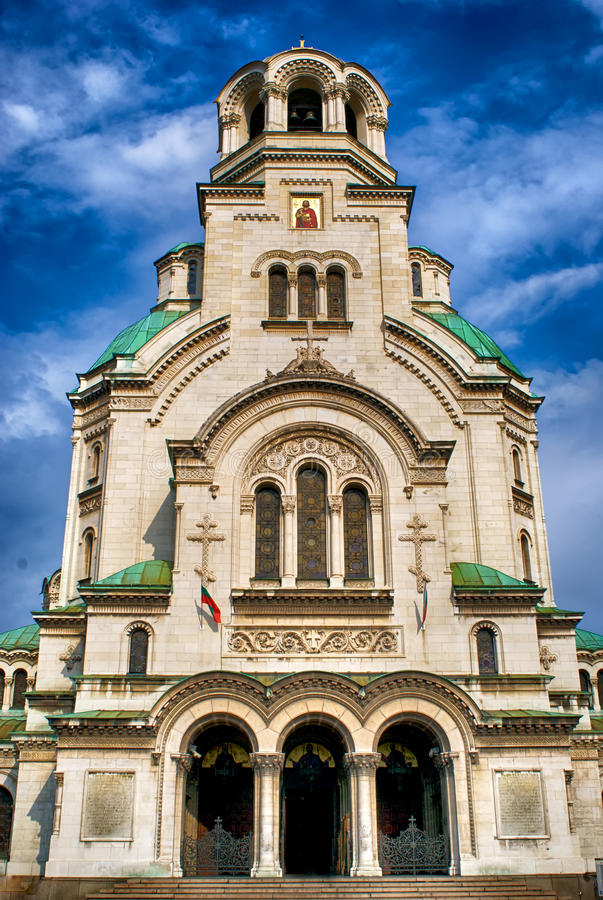 Alexander Nevsky Cathedral in Sofia. stock photos