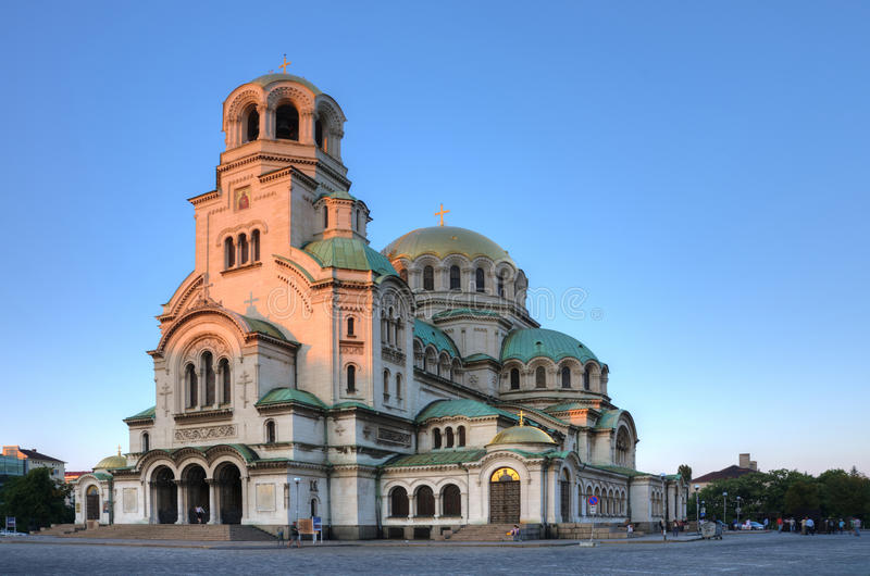 Alexander Nevsky Cathedral, Sofia, Bulgaria. Aleksander Nevsky Cathedral in Sofia, Bulgaria, is one of the symbols of this charming country stock photo