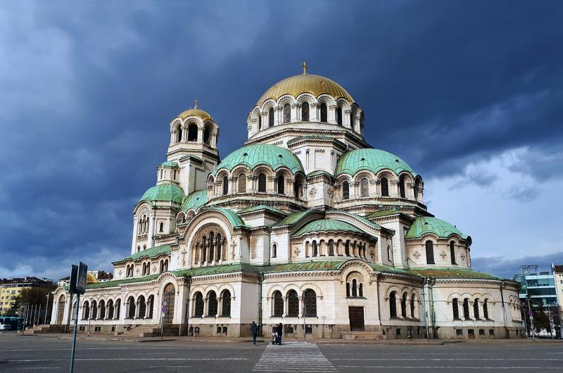 Alexander Nevsky Cathedral Sofia, Bulgarien, royaltyfri bild
