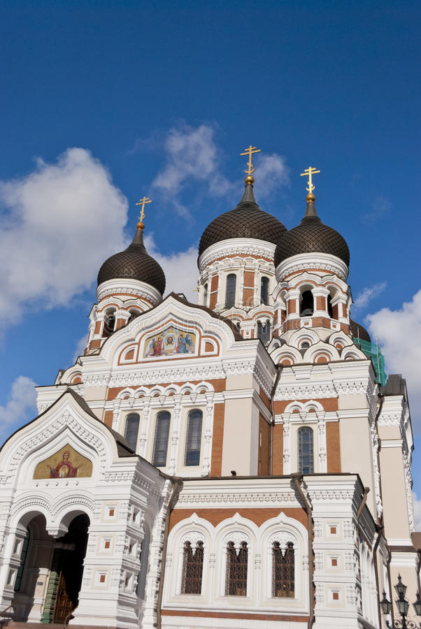 Alexander Nevsky Cathedral, Tallinn. Estonia stock photo
