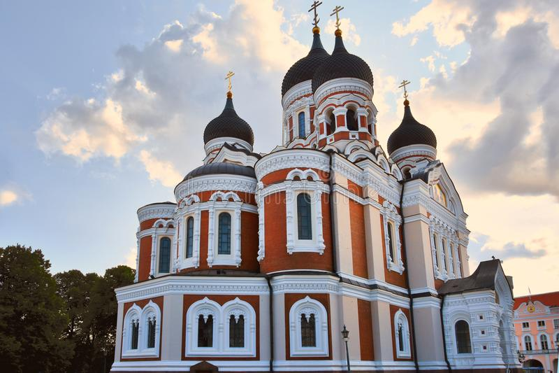 Alexander Nevsky Cathedral, Tallinn, Estônia foto de stock