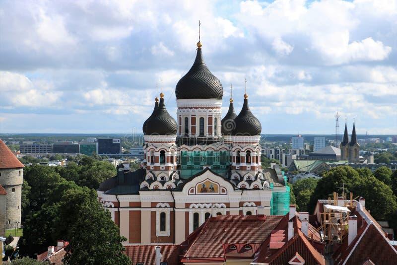 Alexander Nevsky Cathedral, Tallinn, Estonia imágenes de archivo libres de regalías