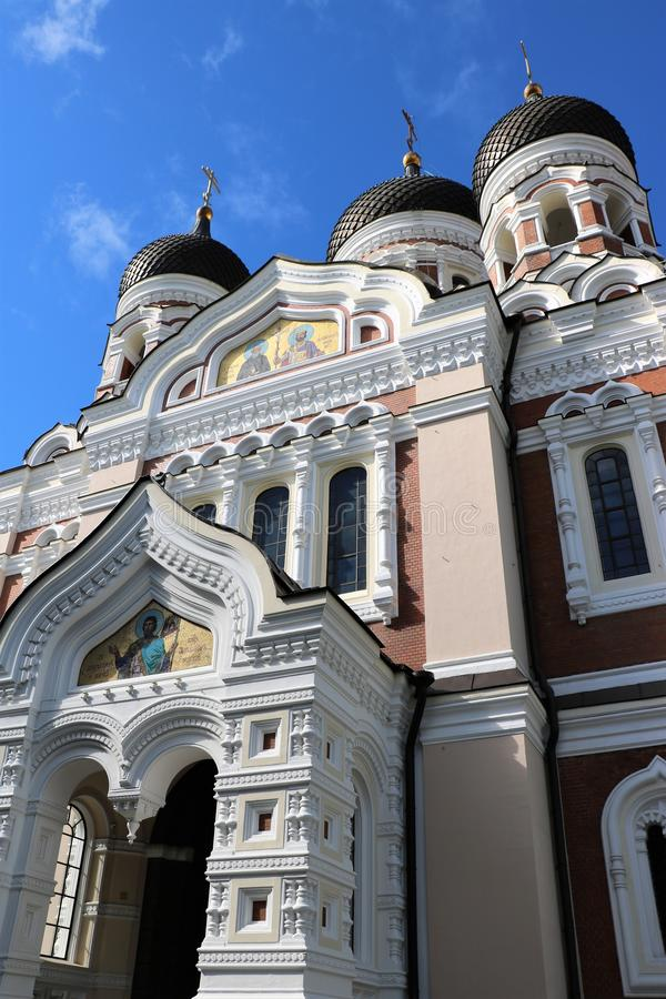 Alexander Nevsky Cathedral, Tallinn, Estonia fotos de archivo