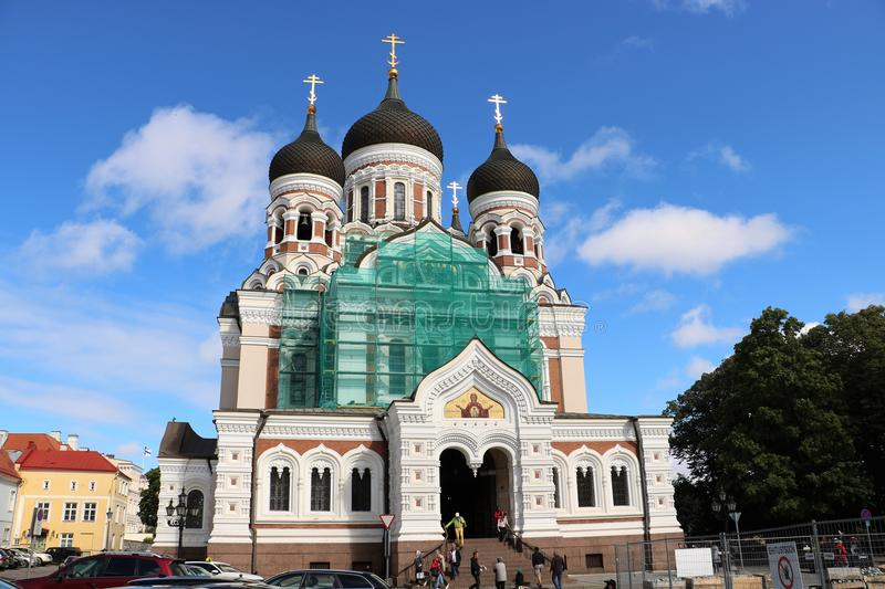 Alexander Nevsky Cathedral, Tallinn, Estonia imagen de archivo