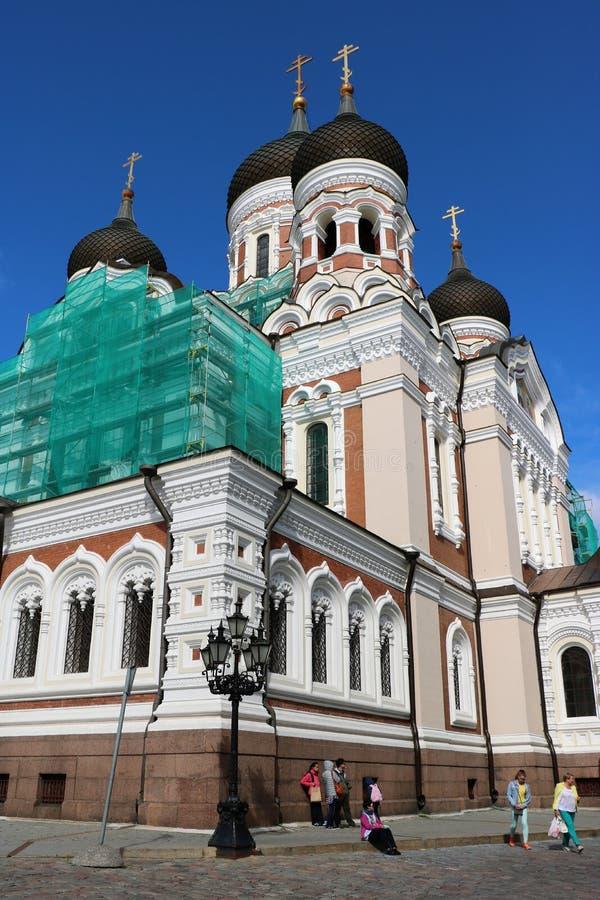 Alexander Nevsky Cathedral, Tallinn, Estonia fotografía de archivo