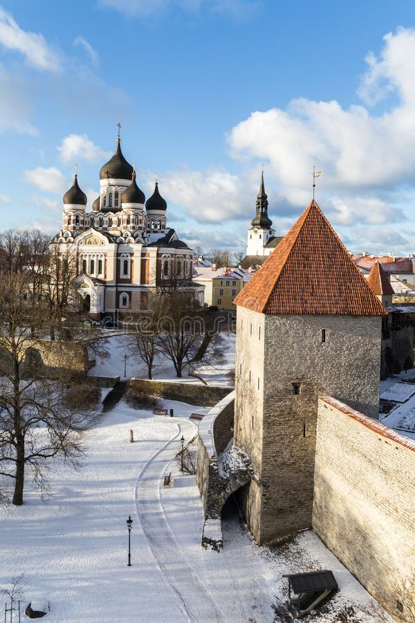 Alexander Nevsky Cathedral a Tallinn Estonia immagini stock libere da diritti