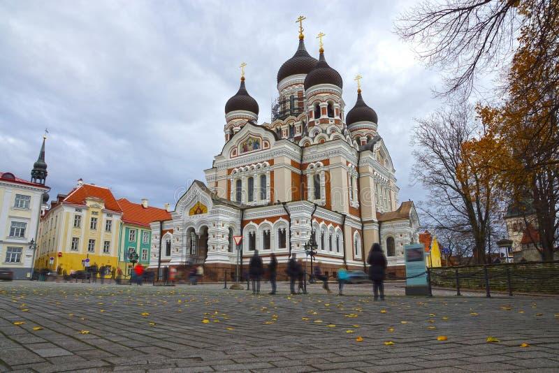 Alexander Nevsky Cathedral a Tallinn, Estonia fotografie stock