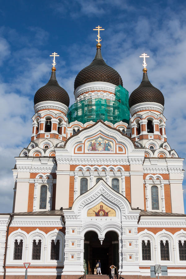 Alexander Nevsky Cathedral. Tallinn, Estonia imagen de archivo libre de regalías