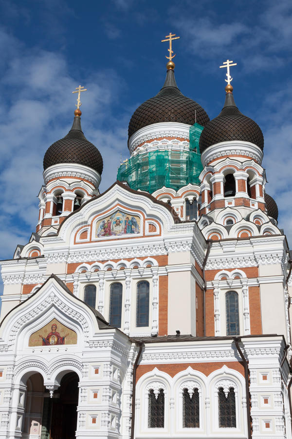 Alexander Nevsky Cathedral. Tallinn, Estonia immagini stock libere da diritti