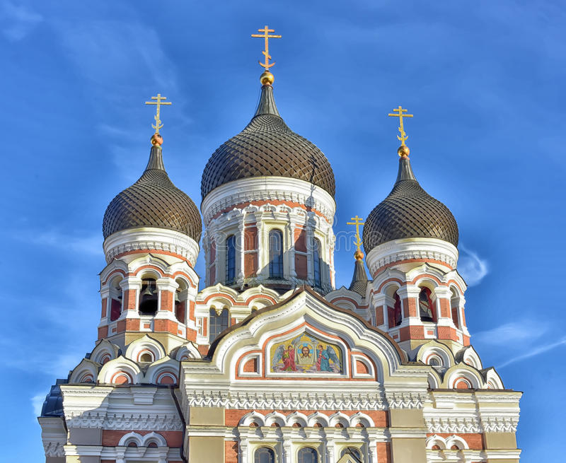 Alexander Nevsky Cathedral in Tallinn. Alexander Nevsky Cathedral. Tallinn, Estonia stock image