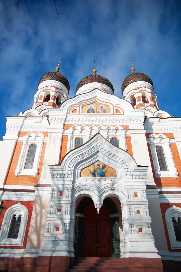 Alexander Nevsky Cathedral. In Tallinn. Estonia. Europe stock photography