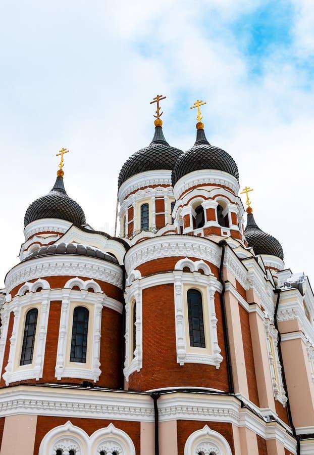 Alexander Nevsky Cathedral a Tallinn, Estonia immagine stock libera da diritti