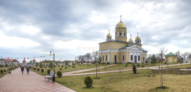 Alexander Nevsky Church in Buigmachine, Transnistria royalty-vrije stock afbeeldingen