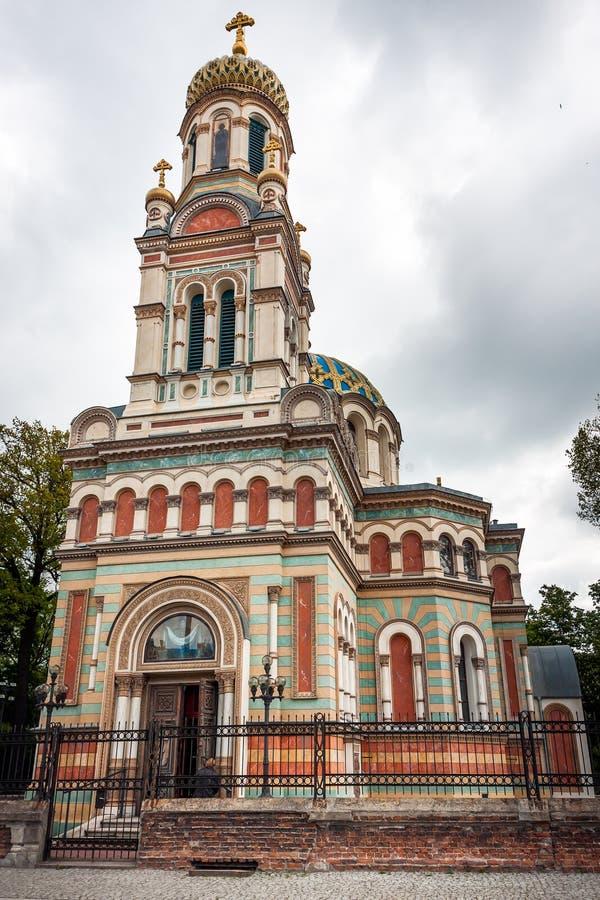 Alexander Nevsky Church, Lodz fotos de archivo