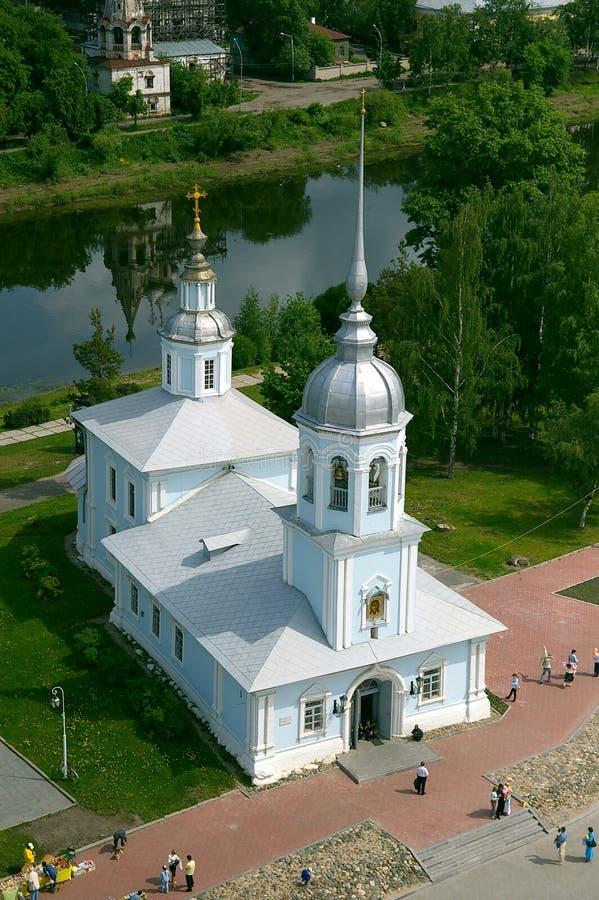 Alexander Nevsky kyrka i Vologda fotografering för bildbyråer