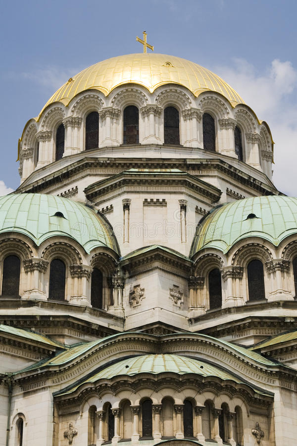 Domes of Alexander Nevsky Cathedral, Sofia, Bulgaria