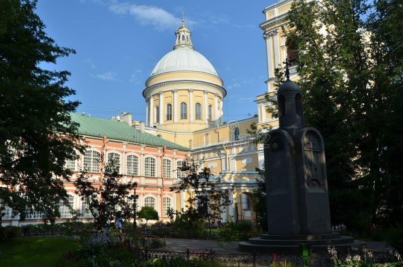 Alexander Nevsky Monastery en St Petersburg imagen de archivo libre de regalías