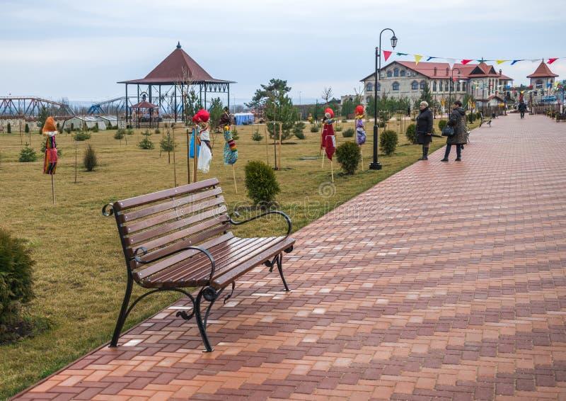Alexander Nevsky Park in Buigmachine, Transnistria royalty-vrije stock fotografie