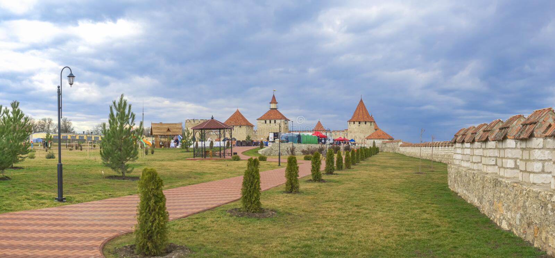 Alexander Nevsky Park in Buigmachine, Transnistria royalty-vrije stock afbeeldingen