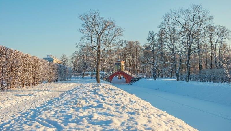 Alexander Park en invierno fotos de archivo libres de regalías