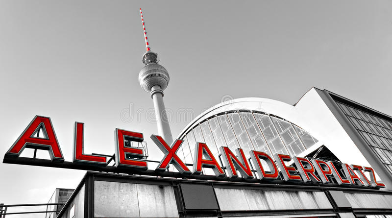 Alexander Platz, Berlin, Tyskland. royaltyfria foton
