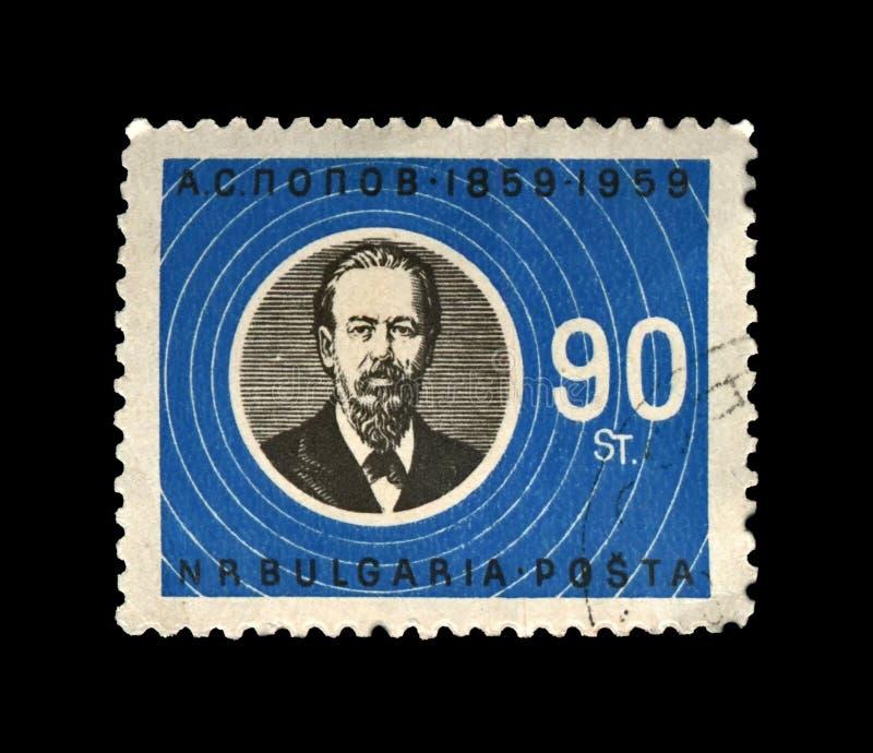 Alexander Popov, berühmter russischer Radiopionier, Pionier der drahtlosen Übertragung, Bulgarien, circa 1960, stockfotos