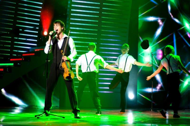 Alexander Rybak. Sings on Ukrainian Got Talent 2009 royalty free stock image