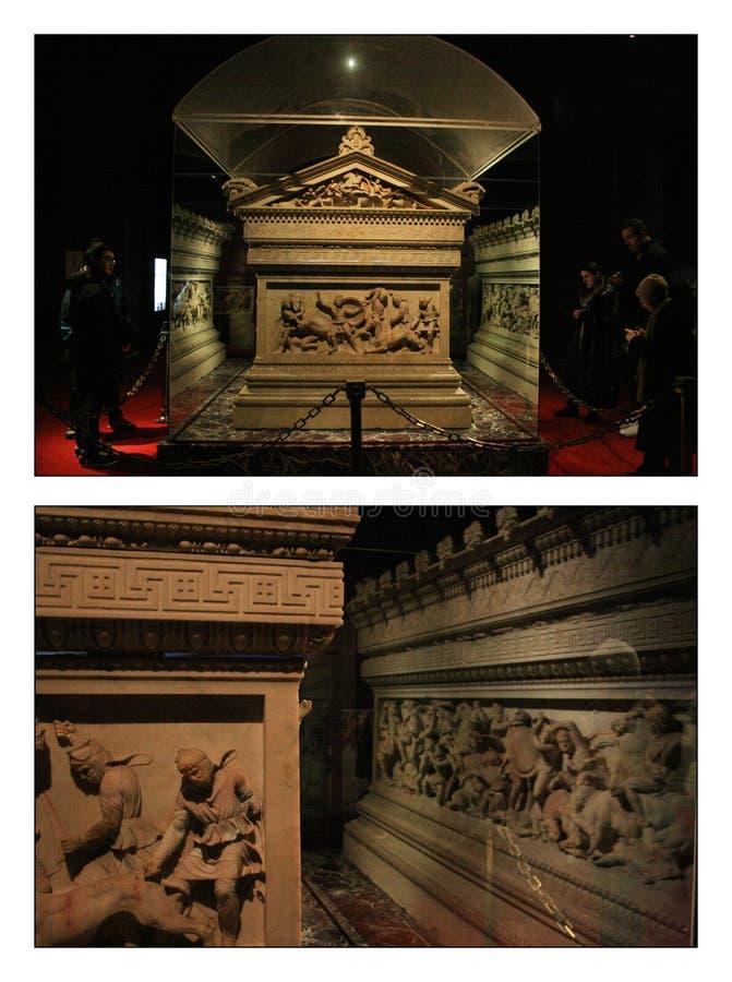 Alexander Sarcophagus royaltyfri bild