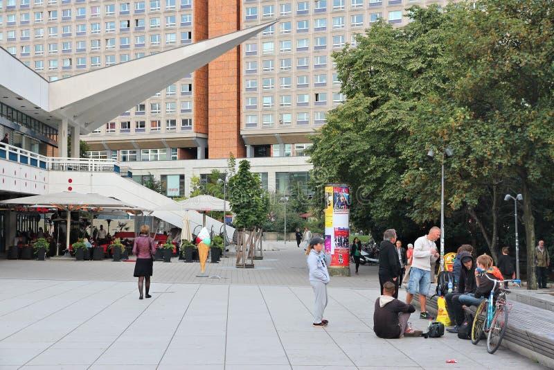 Alexander Square Berlin arkivfoton