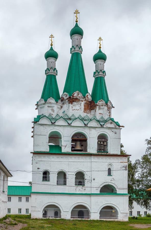 Alexander-Svirsky Klooster, Rusland stock afbeelding