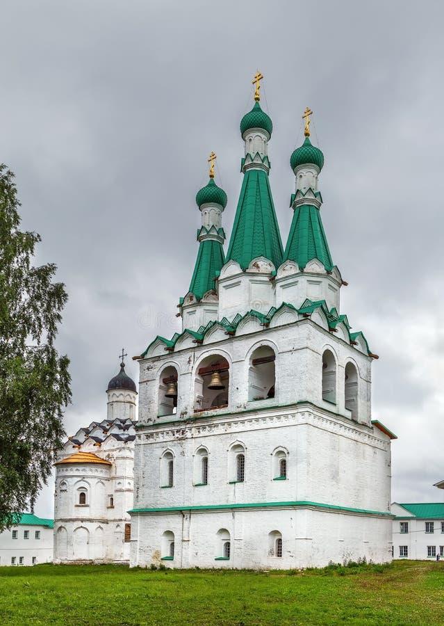 Alexander-Svirsky Klooster, Rusland royalty-vrije stock afbeelding