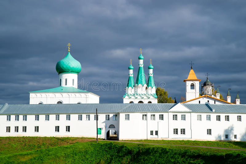 Alexander Svirsky kloster i Ryssland arkivfoto