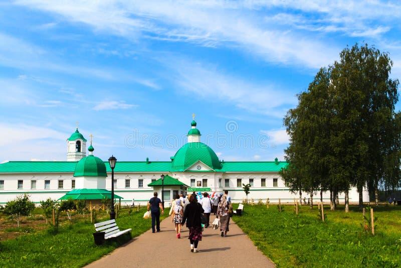 Alexander-Svirsky kloster i Staraya Sloboda, Ryssland Juli 2017 royaltyfria foton