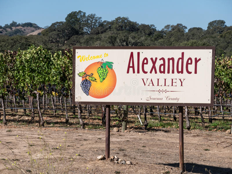 Alexander Valley, California royalty free stock image