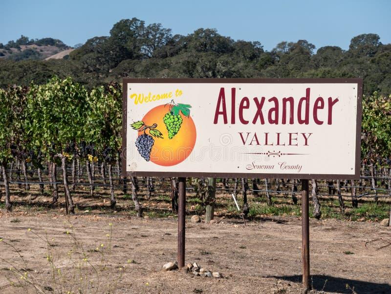Alexander Valley, Kalifornien lizenzfreies stockbild