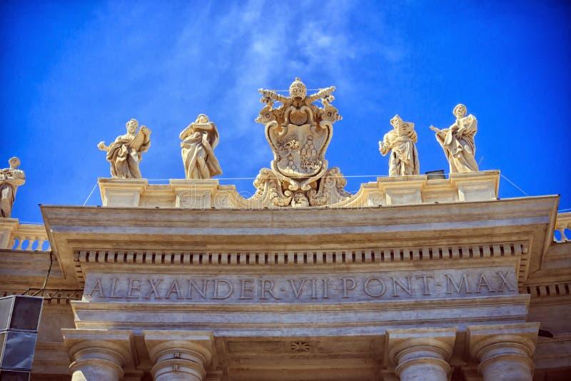 Alexander VII-Wapenschild stock foto's
