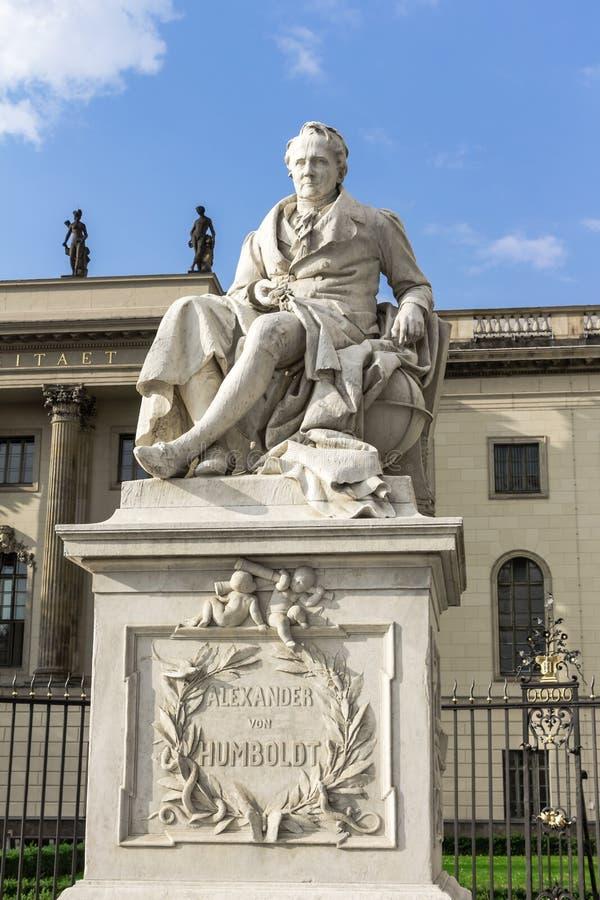 Alexander Von Humboldt Statue fotos de archivo