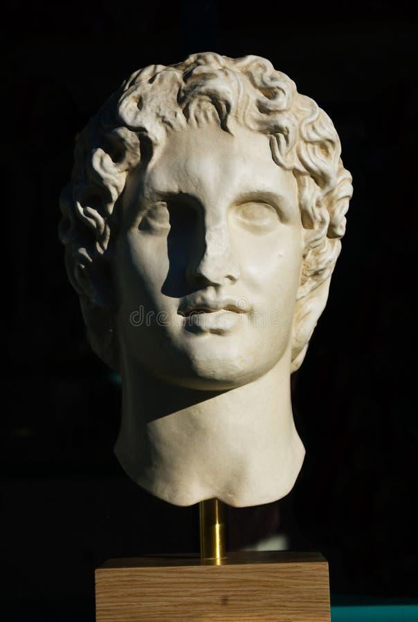 alexander wielką statuę zdjęcia stock