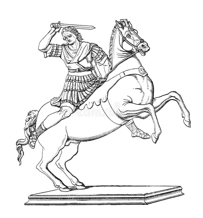 alexander wielki royalty ilustracja