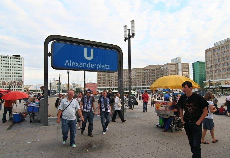 alexanderplats berlin стоковое изображение