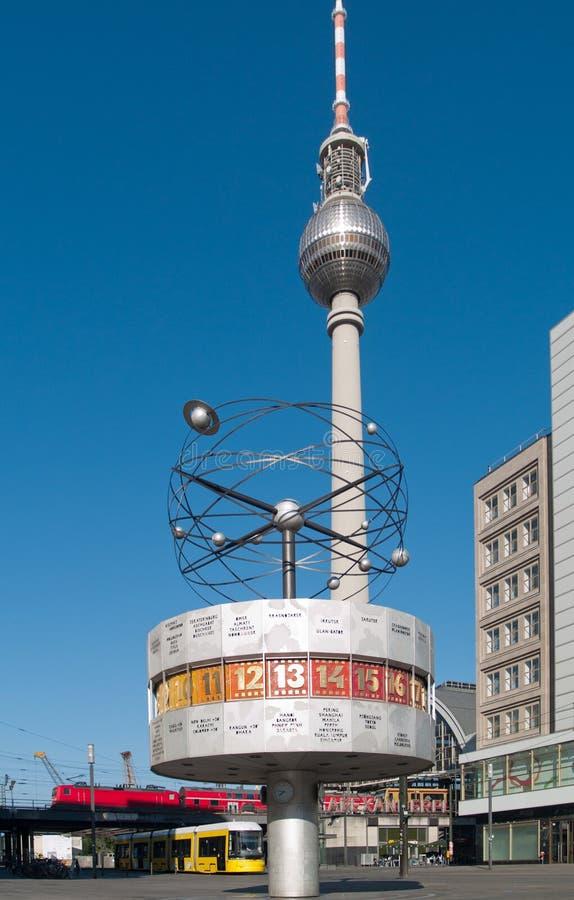alexanderplatz柏林地平线 免版税库存图片